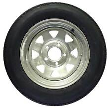 """Galvanised Sunraysia Rim and Tyre 13"""" Ford Wheel Trailer Part Car Brendale Pine Rivers Area Preview"""