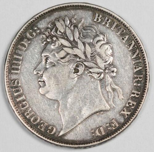 GREAT BRITAIN 1821 Silver CROWN Coin Choice XF George IIII KM#680.1 UK SECUNDO
