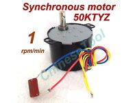 Synchronous Motor 60KTYZ AC 110V 60Hz 40 rmp//m CW//CCW 14W 4kg Gear Motor