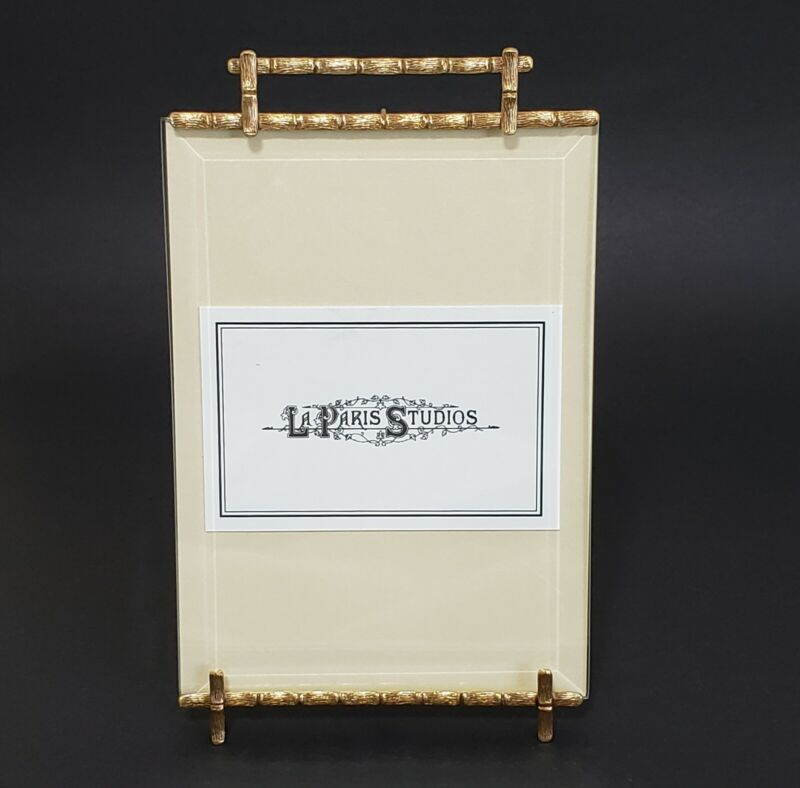 La Paris Bamboo Solid Brass Picture Frame Handcrafted Beveled Glass 5 x 7