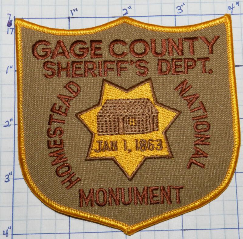 NEBRASKA, GAGE COUNTY SHERIFF