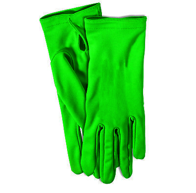 Gloves Adult Size Dark Green Dress Up Theatrical Pretend 1 Pair - Dress Up Gloves