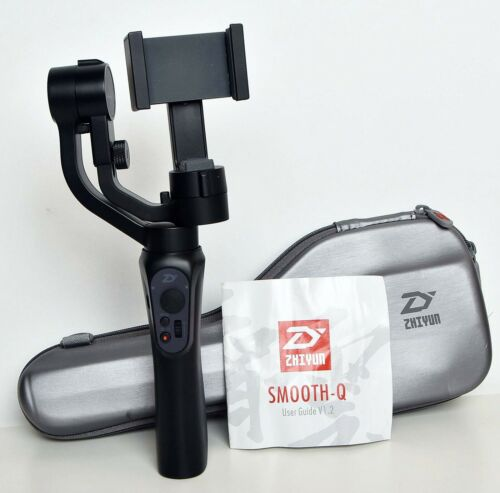 ZHIYUN SMOOTH-Q 3 Axis Handheld Gimbal Stabilizer Black w/Case  WORKS GREAT