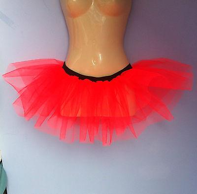 flo orange halloween  tutu mini skirt underskirt 2 layers stretches 8-18 rave (Flo Halloween Kostüme)
