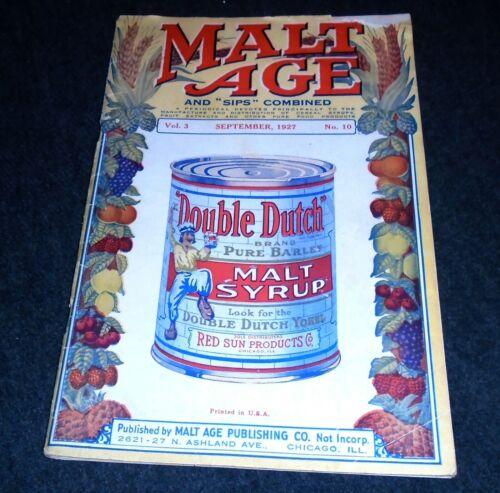 RARE 1927 Malt Age Magazine, Malt Syrup Cans, Schlitz, Strohs, Blatz, Chicago