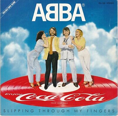 """ABBA """"Slipping Through My Fingers"""" 7"""" Japanese/Coca-Cola Promo Pic Disc/Pic Slv"""