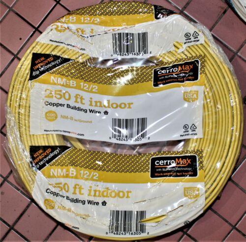 Cerrowire 250ft NM-B 12/2 Yellow Solid CerroMax SLiPWire W/G Wire #147-1672G
