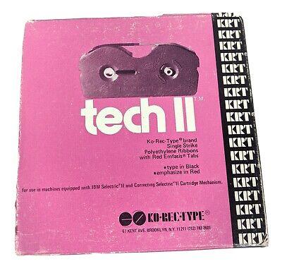 Correcting Selectric Ii Typewriter Ribbon Box T387 Black-ibm Pn 1299095 Red Pink