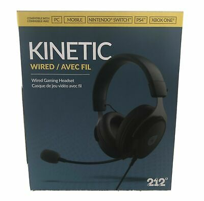 NEW Kinetic Wired Gaming Headset compatible PC, Mobile, PS4, Xbox One X