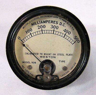 Vintage Weston Model 301 Millimeters 500 Dc Gauge Steampunk Build Or More