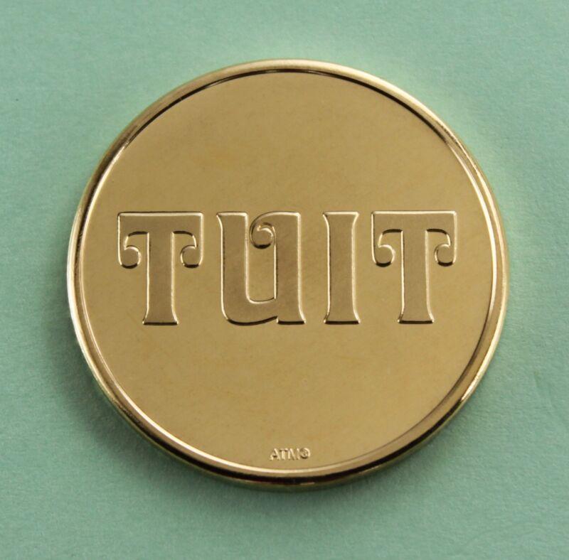 TUIT  token solid brass