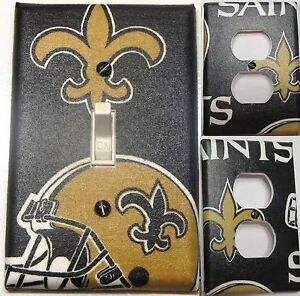 New Orleans Saints custom Light Switch wall plate covers
