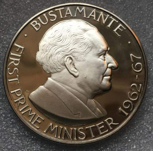 """1978 FM JAMAICA  🇯🇲 ONE 1 DOLLAR PROOF COIN, """"BUSTAMANTE"""", 6,058 MINTED"""