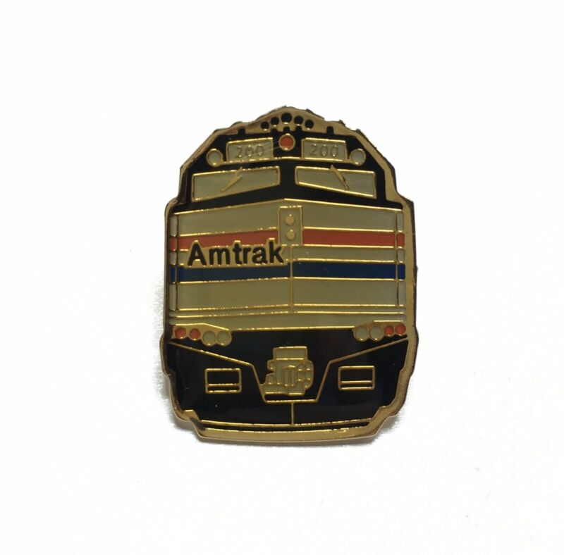 NEW Amtrak Locomotive Engine Train Brass Enamel Lapel PIN, Railroad Railway