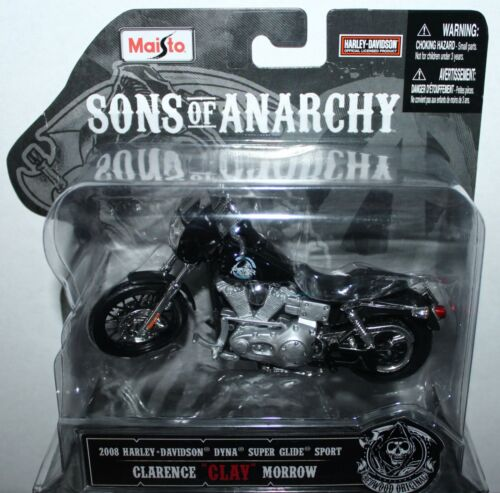 Maisto Sons Of Anarchy Clay 2008 Harley Davidson 1:18 Scale Diecast Motorcycle