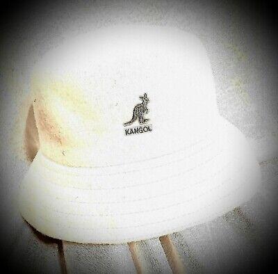 White Bucket Hat (NEW! KANGOL BUCKET HAT WOOLMARK BLEND/FELT WHITE BEIGE. 50% OFF RETAILS)