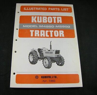 Kubota M4950 M5950 Tractor Parts List Manual Book Catalog Oem