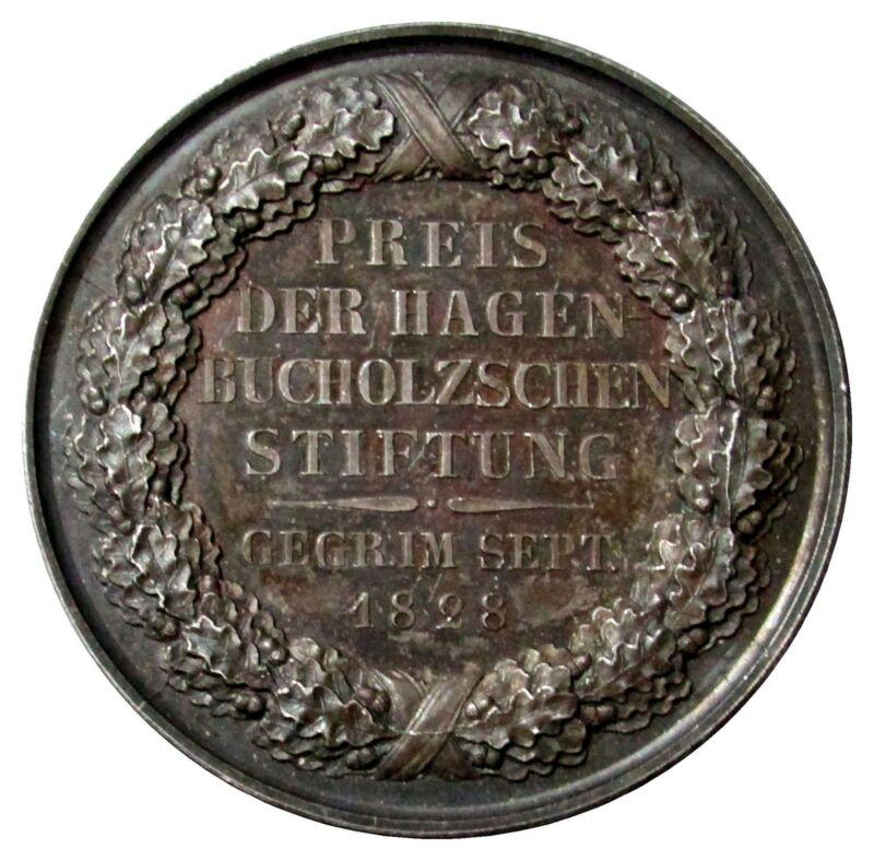 1830 SILVER GERMANY BRANDENBURG-PRUSSIAN FOUNDATION HAGEN-BUCHOLZ PRIZE MEDAL