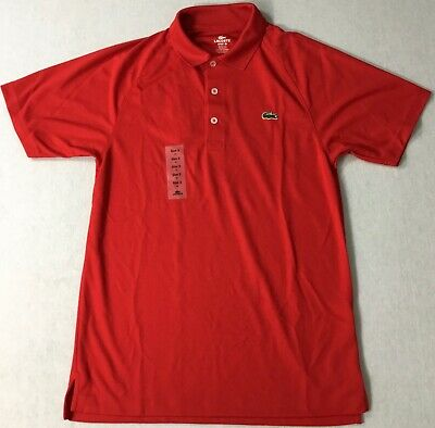 Lacoste Men Ultra Dry Sport Polo DH5227 Red SFX Size 3 / XS