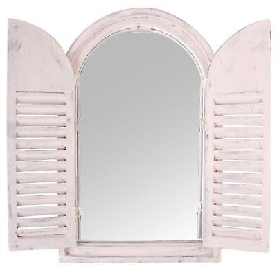 Espejo Madera de Pared Spiegelfenster Persianas Plegables Ventana Casa Campo Pie