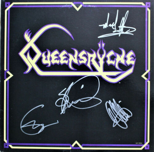QUEENSRYCHE 1st EP SIGNED AUTOGRAPHED VINYL RECORD by 4