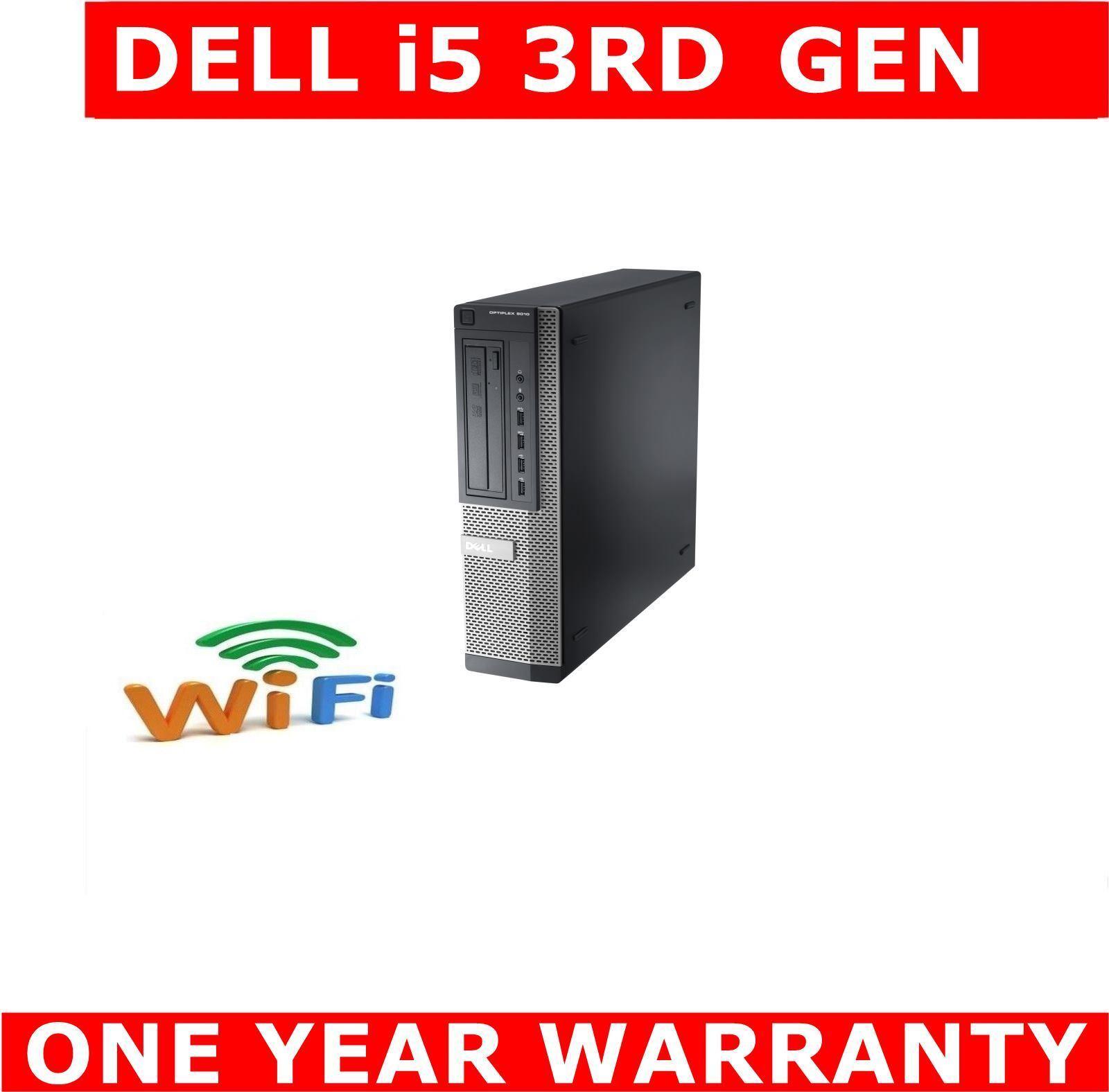 Computer Games - DELL i5 3rd GEN COMPUTER PC 8GB 480GB SSD DUAL SCREEN WINDOWS 10 OR 7 WIFI