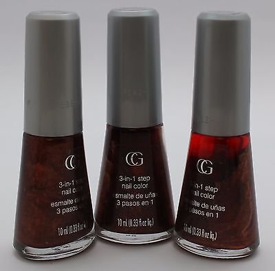 3PK CoverGirl 3-in-1 step Nail Color Q104 Best Bronze