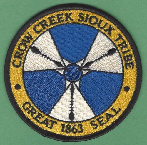 CROW CREEK SIOUX SOUTH DAKOTA TRIBAL SEAL PATCH