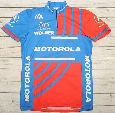 MOTOROLA EDDY MERCKX - GIORDANA - vintage short sleeve MEN'S BLUE JERSEY - L