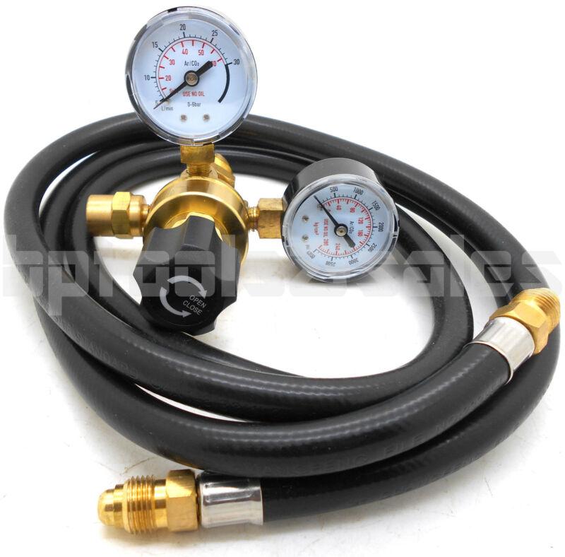 """Argon CO2 Regulator Gauges & 48"""" Hose Welding CGA580 fits Miller Lincoln Mig Tig"""