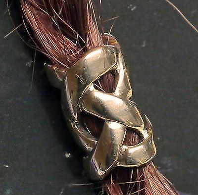 Bart Perle Bartperle Bartschmuck Bronze Knotenwerk Bartspirale Loch 6mm + Gummis