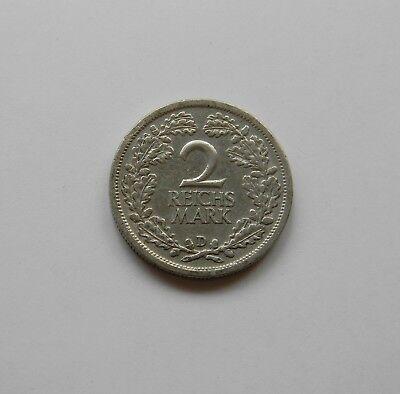 WEIMAR: 2 Reichsmark 1926 D, J. 320, sehr schön/vorzüglich,   II.