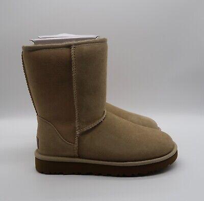 UGG Women's Classic Short II Boot Water-Resistant Sheepskin in Sand  Brand New