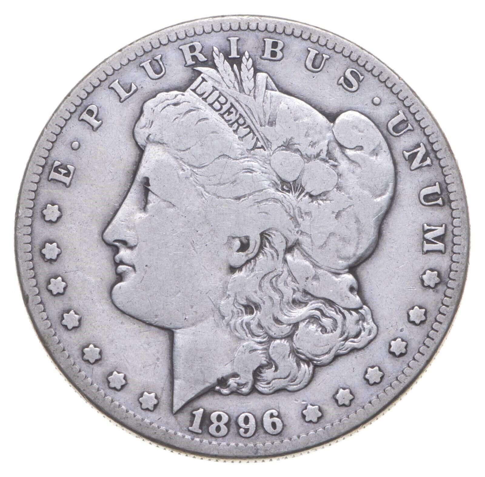 RARE - 1896-S Morgan Silver Dollar - Very TOUGH - High Redbook 504 - $57.56