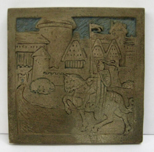 Batchelder California Tile with Castle and Knight