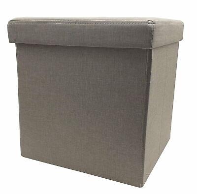 Taburete Plegable Caja de Almacenamiento Cubo-Asiento Mueble Hasta 110kg