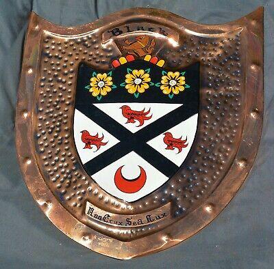 "Vintage Copper ""Black"" Family Crest Coat of Arms/ Shield"