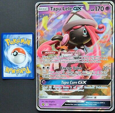 POKEMON TAPU LELE GX 60a/145 JUMBO PROMO NM-MINT LOT# P10