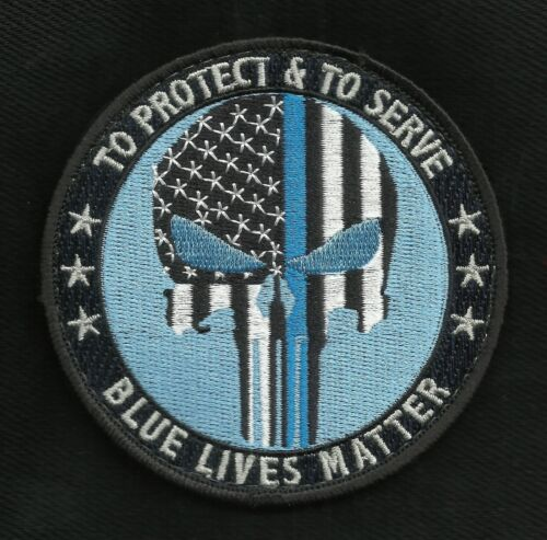 To Protect & To Serve Blue Lives Matter Police Law Enforcement Hook & Loop Patch