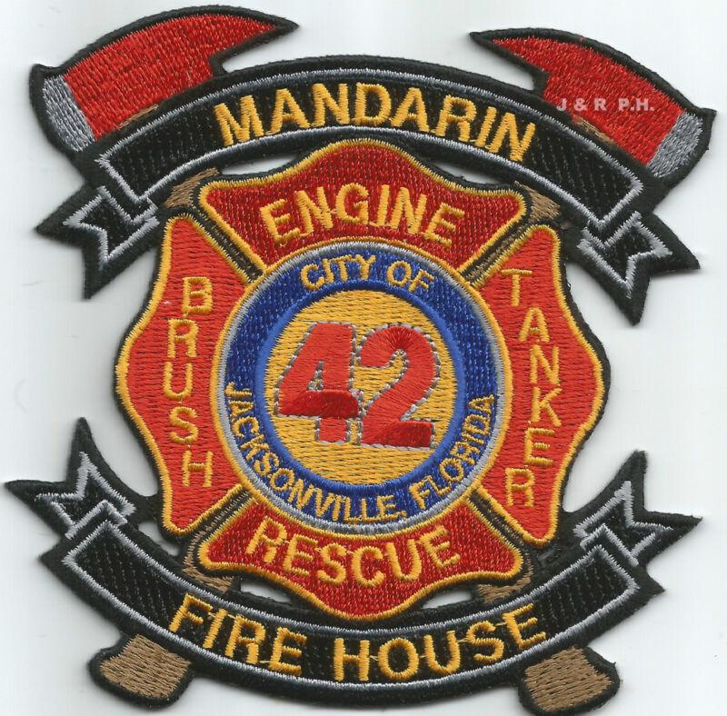 """Jacksonville  Station-42, FL  """"Mandarin Fire House""""  (4"""" x 4"""" size)  fire patch"""