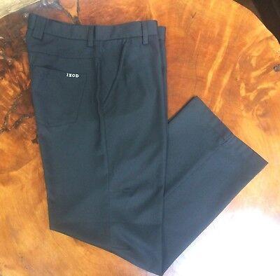 NEW Mens IZOD 32 x 30 Black Flat Front GOLF pants