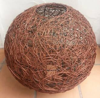Lampshade ball. Large  – Wicker