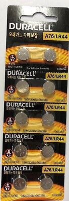 Pack of 10 Duracell 76A LR44 Alkaline Button Batteries Exp. 2023 Ships from USA! for sale  Shipping to India