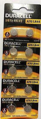 10er Pack Duracell 76A LR44 Alkaline Batterien LR44,A76,EPX76,PX7 Lr44-alkaline-batterien
