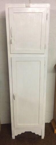 Vintage 2 Door Chimney Cabinet Pantry Kitchen White