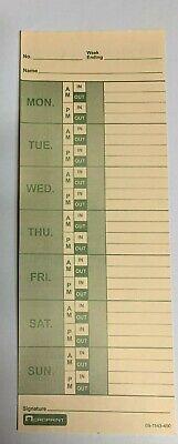400 Weekly Time Clock Cards Named Days Acroprint Amano Lathem Etc...