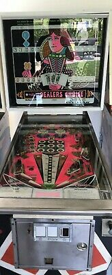 Williams Dealer's Choice  Pinball Machine 1973