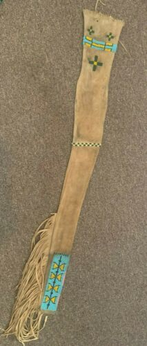 PLAINS INDIAN BEADED RIFLE SCABBARD