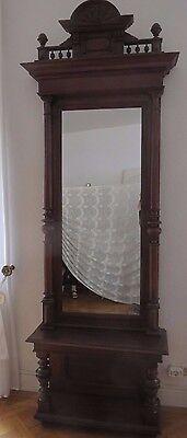 Spiegel, Prachtspiegel, Antike Säulen, Bar - Ablage, Klassizismus. Säulenspiegel