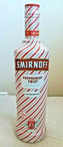 Smirnoff Peppermint Twist Vodka Bottle Collectors Limited Ed Empty Holiday Rare